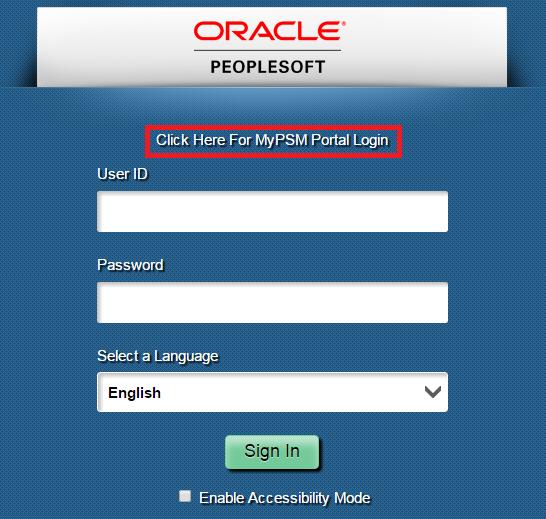 login link peoplesoft defining properties own web profile custom portal coded hard