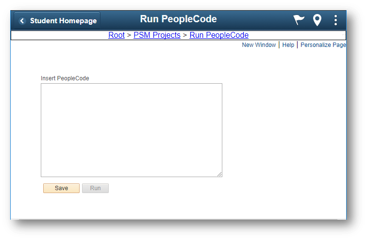 Run PeopleCode