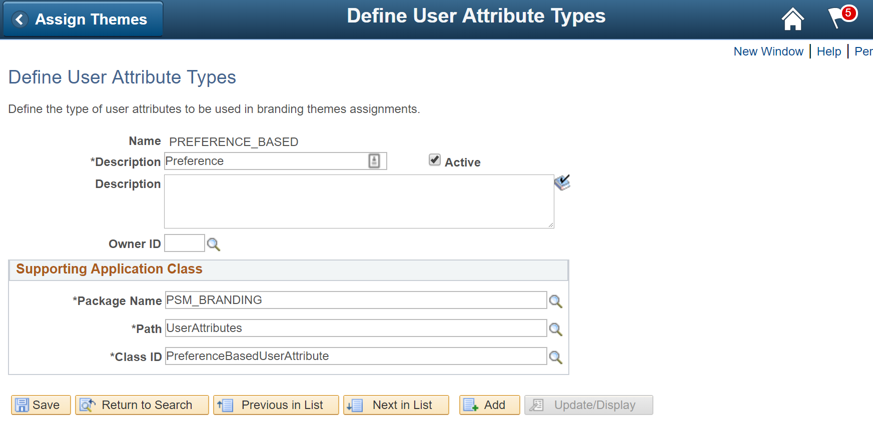 Define User Attribute